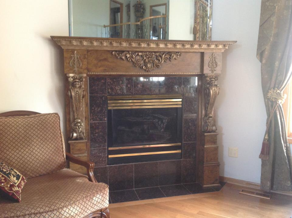 Fireplace Refinish-After-Click for larger image
